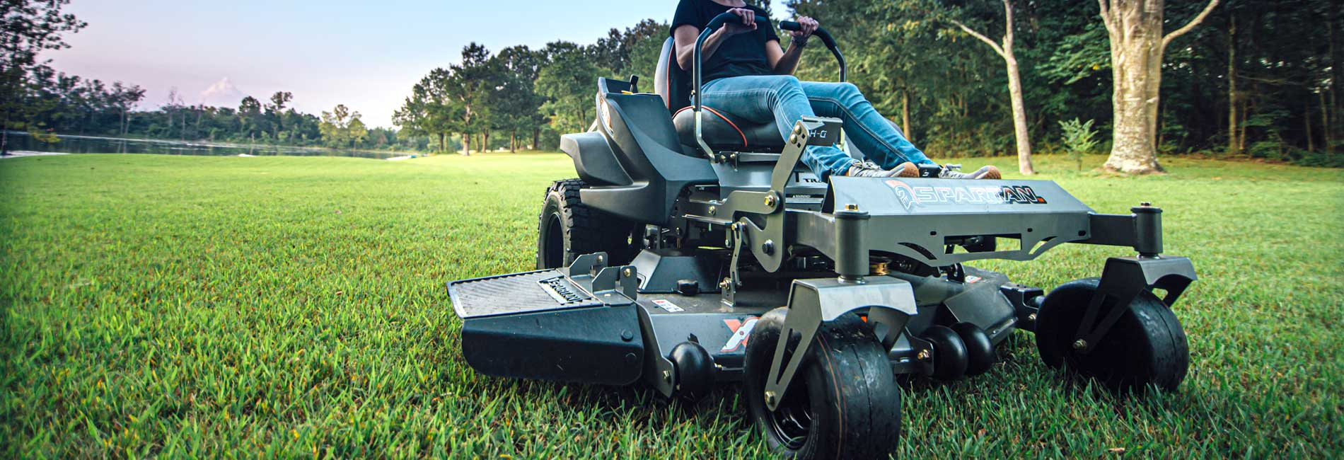 Worker on Riding Mower